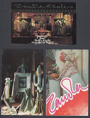 Set of EIGHTEEN Modern Zandra Rhodes Famous Fashion Designer Artist Postcards