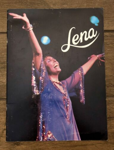 "Lena Horne ""The Lady and Her Music"" Autographed Concert Tour Program USA 1980s"