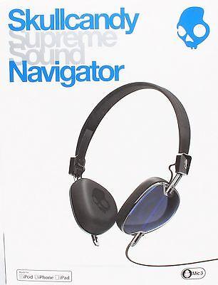 Skullcandy S5AVFM-289 Navigator Headphones Mic 3 Button Apple iPhone iPod iOS Apple 3 Button Mic