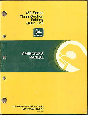 John Deere Manual 450 Series Three-Section Folding Grain Drill