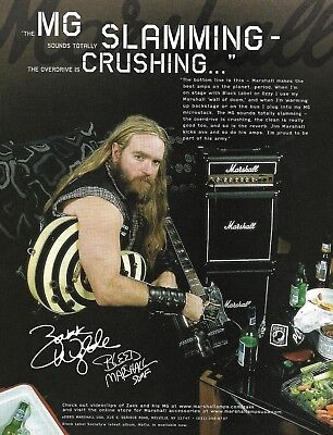 Zakk Wylde Marshall MG guitar amps 8 x 11 advertisement 2005 ad print for sale  Shipping to India