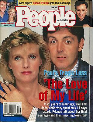 PAUL AND LINDA McCARTNEY People Weekly Magazine May 4, 1998 5/4/98 ...