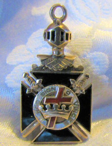 Antique In Hoc Signo Vinces 10K Gold Pendant Fob Knights Templar Masonic 7.6g