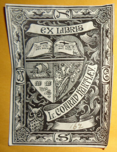 L. Conrad Hartley Ex Libris Bookplate