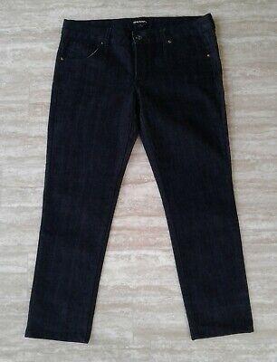 Therapy Women's Blue Dark Wash Denim Jeans Mid Rise Capri Jeans 11