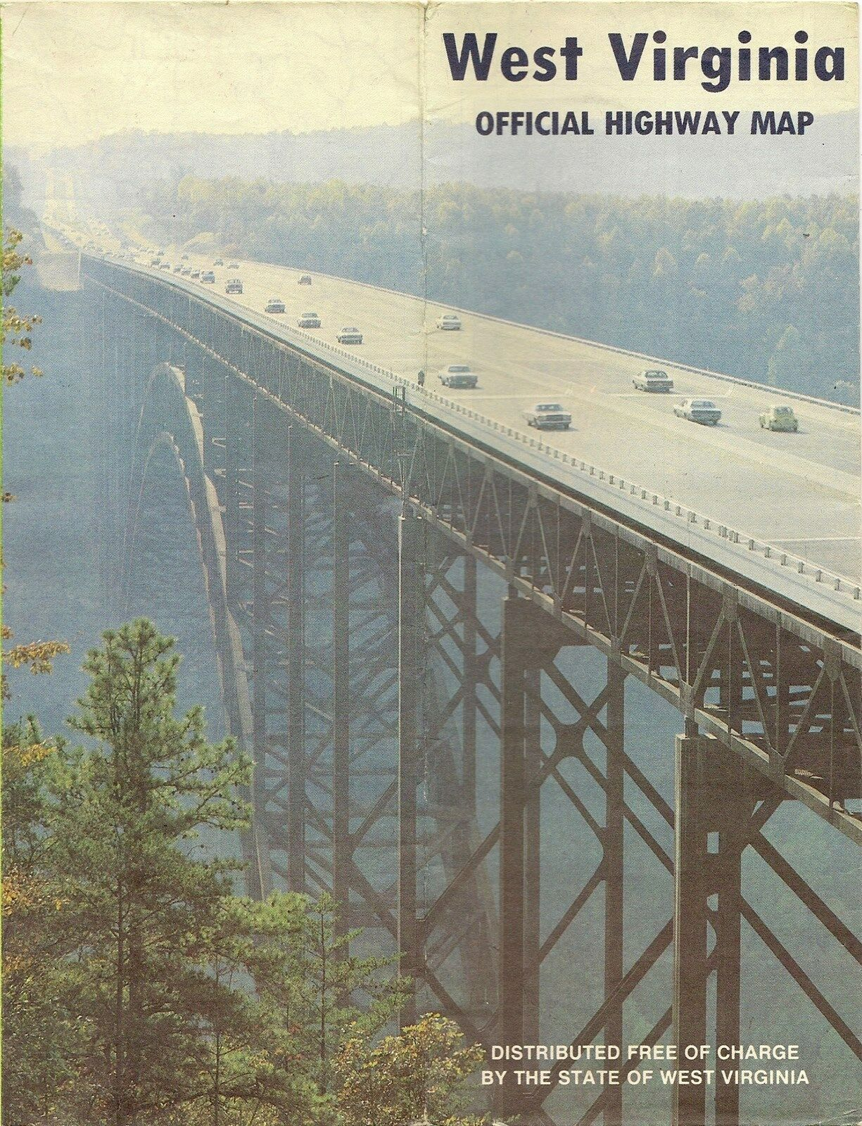 Details about   1980 WEST VIRGINIA Official State Highway Road Map Wheeling Charleston New River