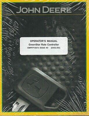 New John Deere Greenstar Rate Controller Operators Manual