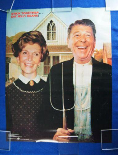 "Ronald Reagan / American Gothic / Original  Vintage Poster -Good cond.- 22 x 28"""