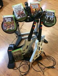 Xbox 360 with Rockband/Kinect and extras