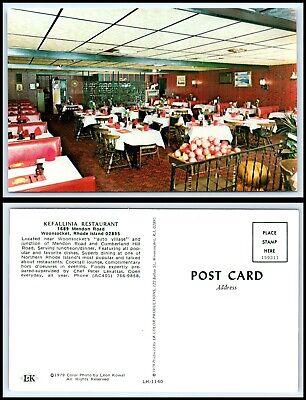 RHODE ISLAND Postcard - Woonsocket, Kefallinia Restaurant H29