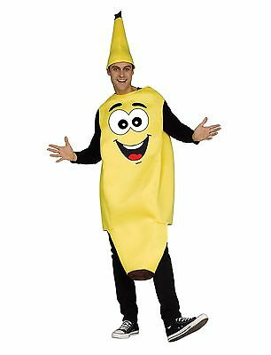 Funny Banana Fruit Food Unisex Adult Costume, One - Adult Fruit Costume