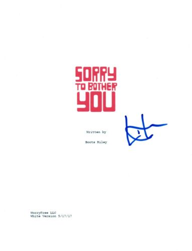 Lakeith Stanfield Signed Autographed Sorry To Bother You Movie Script COA