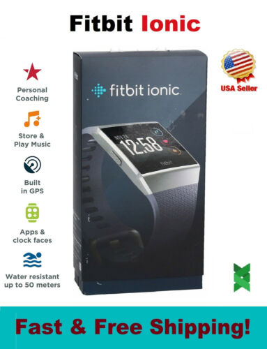Fitbit IONIC Smart Watch Bluetooth GPS Activity Fitness Tracker S/L Charcoal