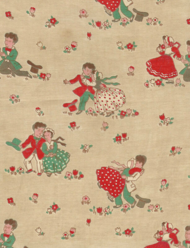 Vintage 1920 French Sweetheart Fabric