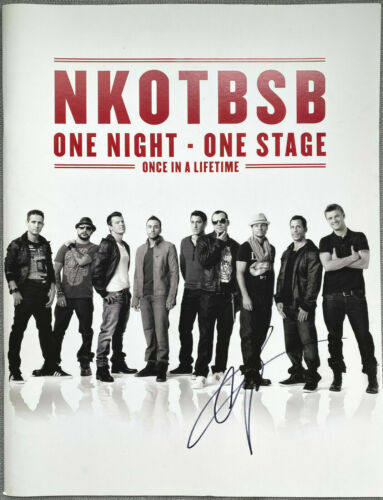 Nick Carter Signed IP New Kids On The Block Backstreet Boys Concert Program VIP