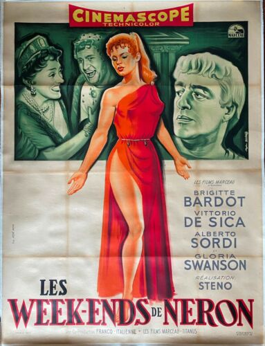 Poster Mounted The Weekends Nero Steno Brigitte Bardot 47 3/16x63in