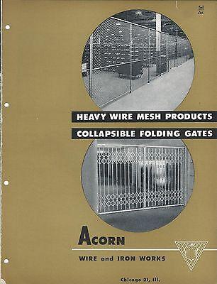 Mro Brochure - Acorn - Wire Mesh Fence Folding Gate - C1952 Mr157
