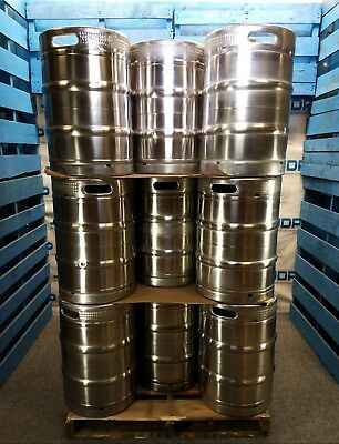 Half Barrel Stainless Steel Keg Used Sanke D Spear 15.5 Gallon