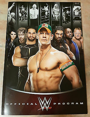 Official Souvenir WWE Program 2015
