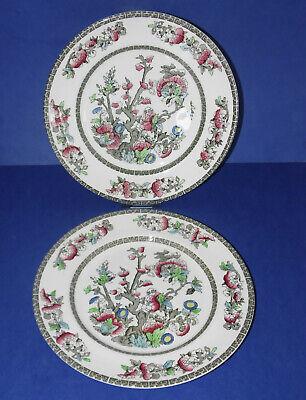 "JOHNSON BROTHERS * 2 Vintage Dinner Plates * Indian Tree Design * 10"" (25.5cm) *"