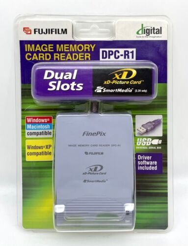 Fujifilm Image Memory Card Reader DPC-R1 - xD Memory Card SmartMedia FinePix NEW