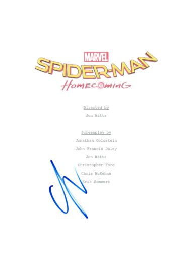 Laura Harrier Signed Autographed Spider-Man: Homecoming Movie Script COA