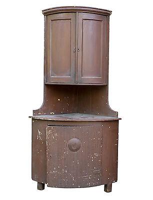 Erzgebirgischer Brotschrank, Biedermeier ECKSCHRANK, Vorratsschrank um 1810