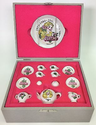 BARBIE 25TH ANNIVERSARY TEA SET NEW