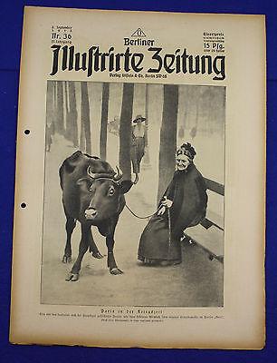 BERLINER ILLUSTRIRTE ZEITUNG (1918 Nr. 36) Paris /1. Weltkrieg/WW 1