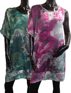 Womens-Ladies-New-Printed-One-Sleeve-Baggy-Dress-Sizes-8-18-27064