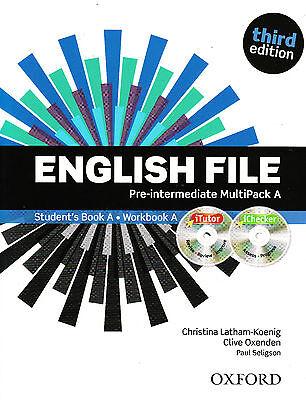 ENGLISH FILE Pre-Intermediate Third Edition MultiPack A w iTutor + iChecker @NEW