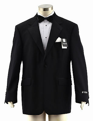 NWT STAFFORD Black 1-Btn Notch Lapel Tuxedo Dinner Jacket Blazer ~ 42R $180.00