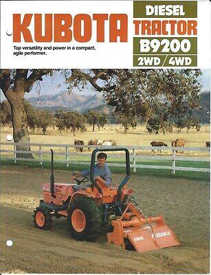 Equipment Brochure - Kubota - B9200 - Diesel 2wd 4wd Tractor Farm E5468