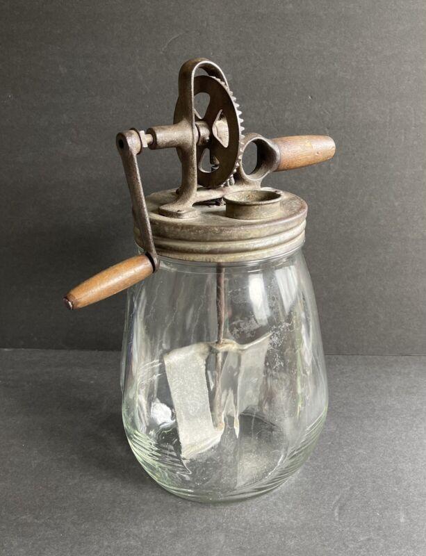 Vintage Antique Dazey Butter Churn No 4 St Louis Tulip Jar with Lid
