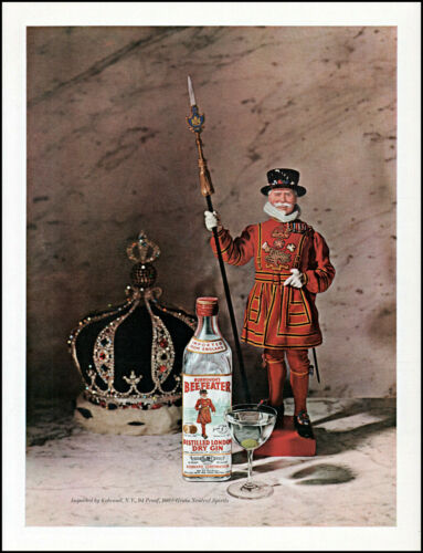 1965 Beefeater London Dry Gin Yeomen of the Guard vintage photo print ad L22