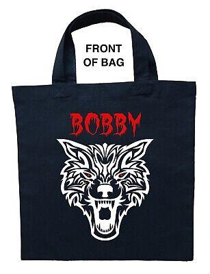 Halloween Trick Treat Bags Personalized (Werewolf Trick or Treat Bag, Personalized Werewolf Halloween Bag, Werewolf)
