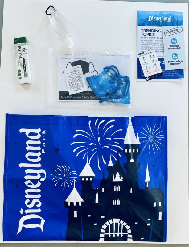 Walt Disney Exclusive Official Cast Member Pandemic Packet - Tote & Face Mask