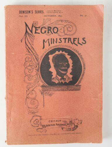 Antique Americana Minstrels Songbook Denison