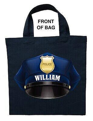 Personalized Halloween Treat Bag (Police Officer Trick or Treat Bag - Personalized Policeman Halloween)