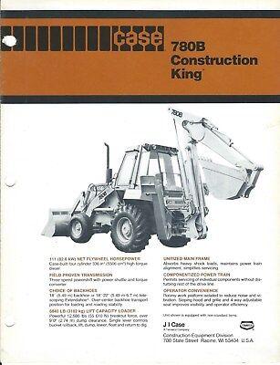 Equipment Brochure - Case 780b Construction King Loader Backhoe - C1981 E4126