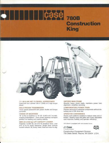 Equipment Brochure - Case 780B Construction King Loader Backhoe - c1981 (E4126)
