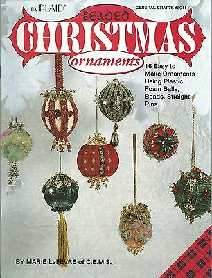 Beaded Christmas Ornaments Marie LeFevre Beading Instruction Book NEW OOP