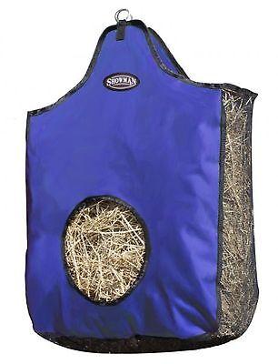 BLUE Showman Heavy Denier Nylon Hay Bag w/ Mesh Sides & Bottom! NEW HORSE TACK!