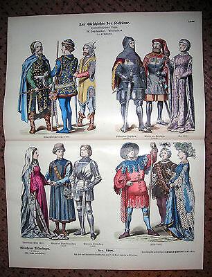 15th Century Germany-Rhine Dress-Ingelheim-Ravensburg-Knight -1880 Costumes