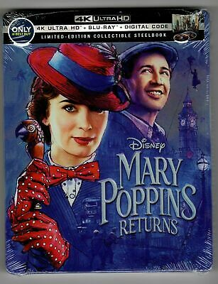 Best Family Halloween Movies 2019 (MARY POPPINS RETURNS BEST BUY EXCLUSIVE COLLECTIBLE STEELBOOK 4K ULTRA HD + BLU)