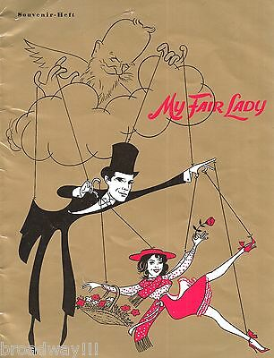 "Lerner & Loewe ""MY FAIR LADY"" Karin Huebner 1961 Original German Cast Program"
