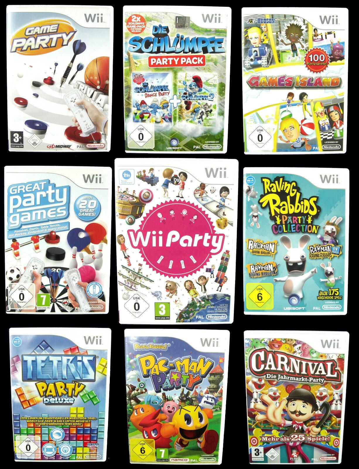 PARTY Spiele für Nintendo Wii: z.B. Wii Party, TETRIS, Carnival, MONOPOLY