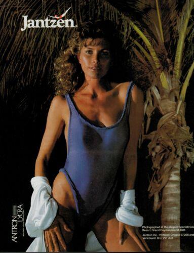 1985   JANTZEN  Swimsuit  Antron Lycra   : magazine Print AD