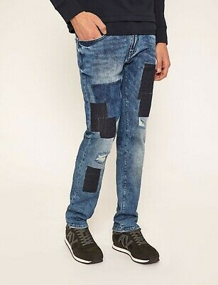 ARMANI EXCHANGE Authentic Slim Fit Ripped and Repaired Indigo Jean NWT (Armani And Exchange)