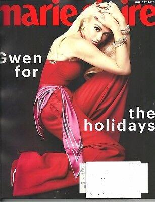 Marie Claire Holiday 2017 Gwen Stefani Gwen for the Holidays Free Fast SnH L@@K!